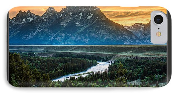 Grand Teton National Park Sunset Poster IPhone Case by Gary Whitton