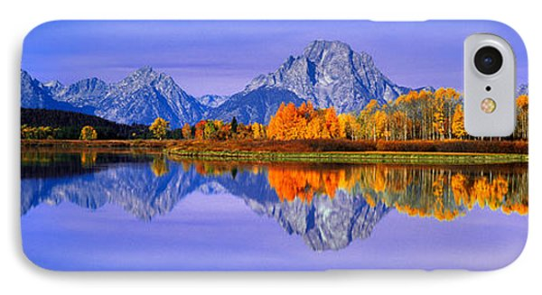 Grand Tetons And Reflection In Grand IPhone Case by Panoramic Images