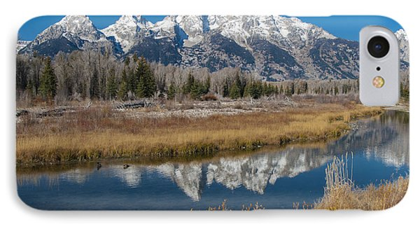 IPhone 7 Case featuring the photograph Grand Tetons by Gary Lengyel