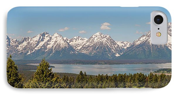 Grand Tetons Over Jackson Lake Panorama IPhone Case by Brian Harig
