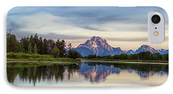 Grand Teton's Oxbow Panorama IPhone Case by Andrew Soundarajan