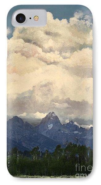 Grand Tetons  Sky Phone Case by Suzette Kallen