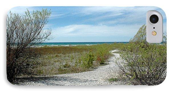 IPhone Case featuring the photograph Grand Traverse Bay Path by LeeAnn McLaneGoetz McLaneGoetzStudioLLCcom