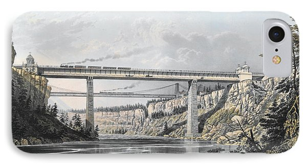 Grand Trunk Railway Of Canada  The Victoria Bridge IPhone Case by S Russell