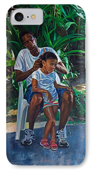 Grandfather And Child IPhone Case by Colin Bootman