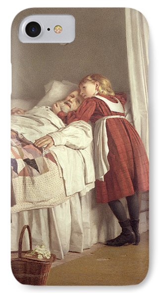 Grandfathers Little Nurse IPhone Case by James Hayllar