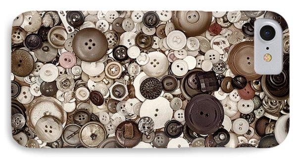 Grandmas Buttons IPhone Case by Scott Norris