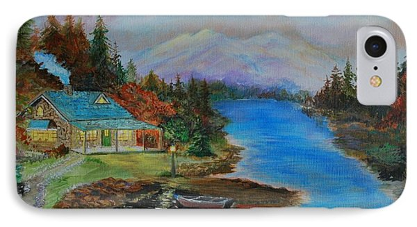 IPhone Case featuring the painting Grandmas Cabin by Leslie Allen