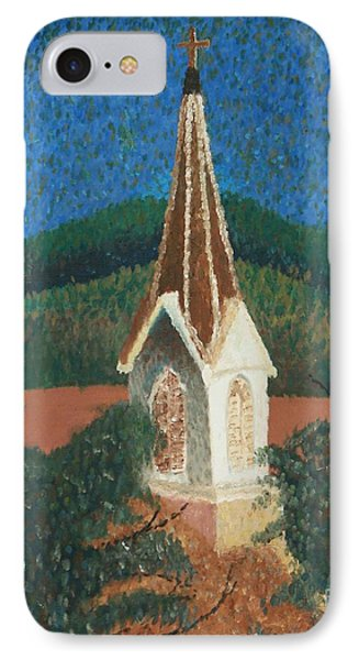 IPhone Case featuring the painting Grandmas Church by Jacqueline Athmann