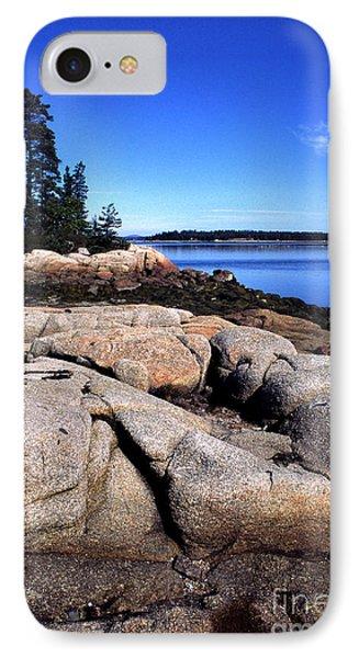 Granite Shoreline Deer Isle Maine IPhone Case