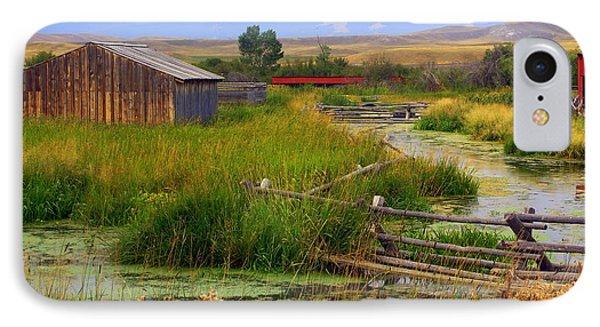 Grant Khors Ranch Deer Lodge  Mt Phone Case by Marty Koch