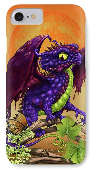 IPhone Case featuring the digital art Grape Jelly Dragon by Stanley Morrison