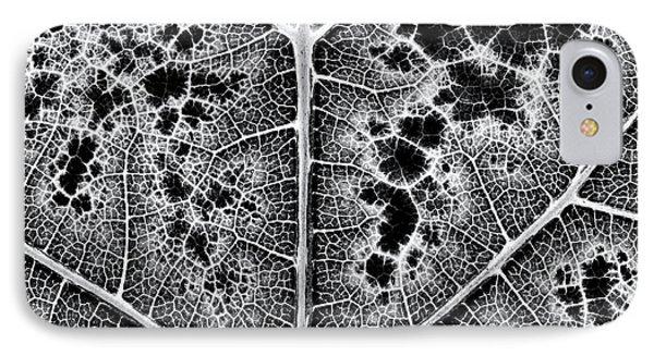 Grape Leaf Monochrome IPhone Case by Tim Gainey