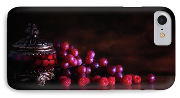 Raspberry iPhone 7 Case - Grape Raspberry by Tom Mc Nemar