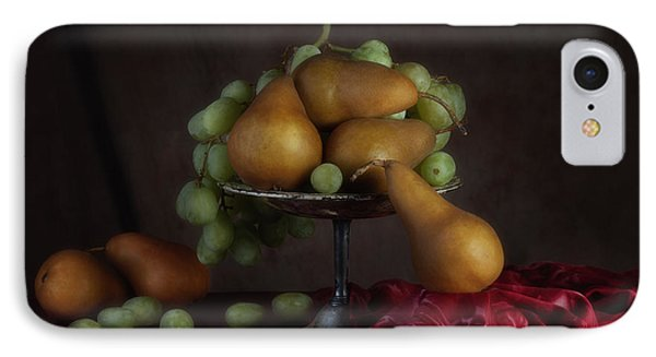 Grapes And Pears Centerpiece IPhone Case by Tom Mc Nemar
