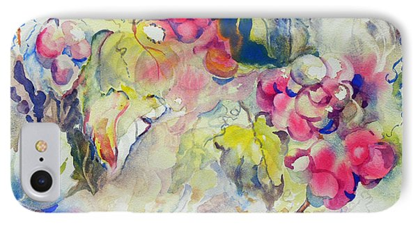 IPhone Case featuring the painting Grapes In Season by Mary Haley-Rocks