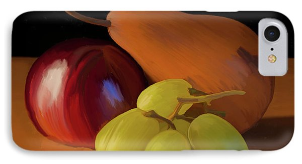 Grapes Plum And Pear 01 IPhone Case by Wally Hampton