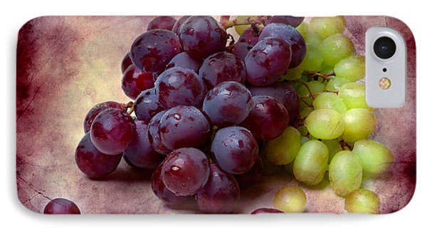 IPhone Case featuring the photograph Grapes Red And Green by Alexander Senin