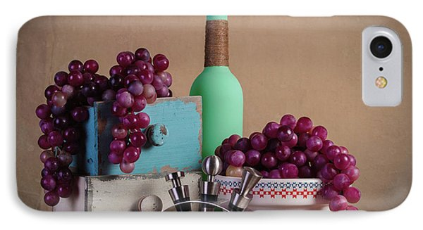 Grapes With Wine Stoppers IPhone 7 Case by Tom Mc Nemar