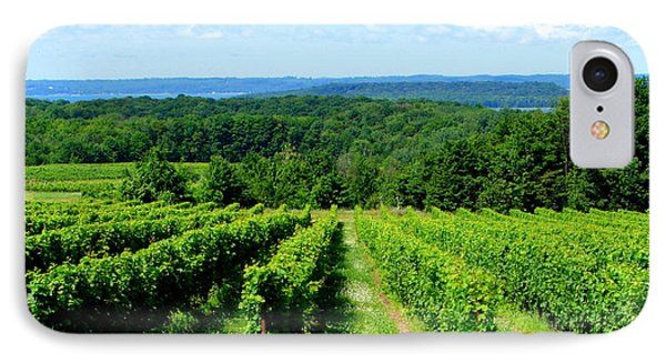 Grapevines On Old Mission Peninsula - Traverse City Michigan Phone Case by Michelle Calkins