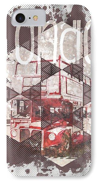 Graphic Art London Streetscene IPhone Case by Melanie Viola