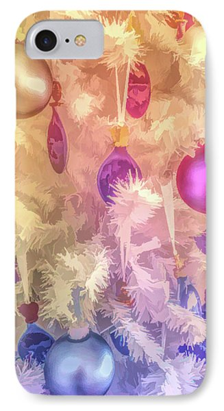 IPhone Case featuring the photograph Graphic Rainbow Christmas Tree Ornaments by Aimee L Maher Photography and Art Visit ALMGallerydotcom
