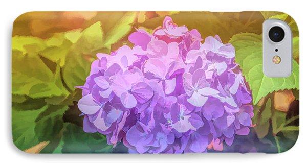 Graphic Rainbow Hydrangea IPhone Case