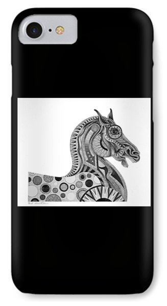 Graphite Horse IPhone Case by Bob Coonts