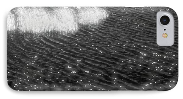 Grass And Water And Lilly Pads Bw2  IPhone Case