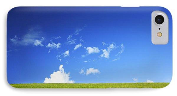 Grass Cloud Sky Phone Case by Brandon Tabiolo - Printscapes