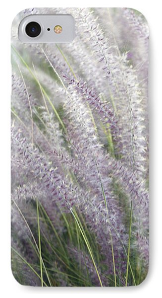 IPhone Case featuring the photograph Grass Is More - Nature In Purple And Green by Ben and Raisa Gertsberg