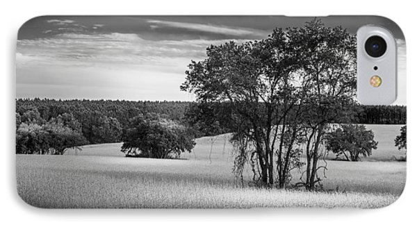 Grass Safari-bw IPhone Case by Marvin Spates