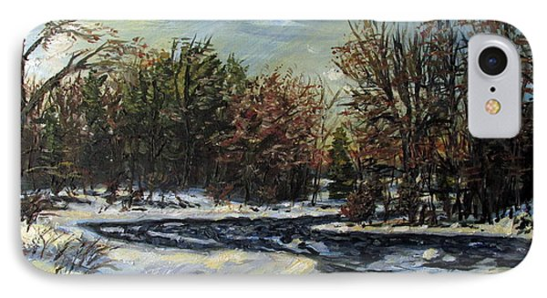 Grasse River In January IPhone Case by Denny Morreale
