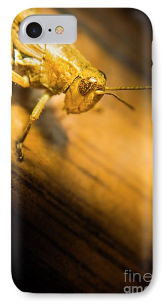 Grasshopper iPhone 7 Case - Grasshopper Under Shining Yellow Light by Jorgo Photography - Wall Art Gallery