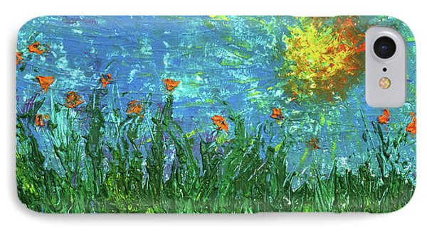 Grassland With Orange Flowers Phone Case by Erik Tanghe