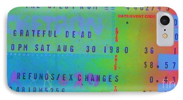 Grateful Dead - Ticket Stub IPhone Case by Susan Carella