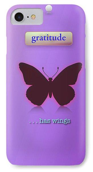 Gratitude Has Wings Phone Case by Jack Eadon
