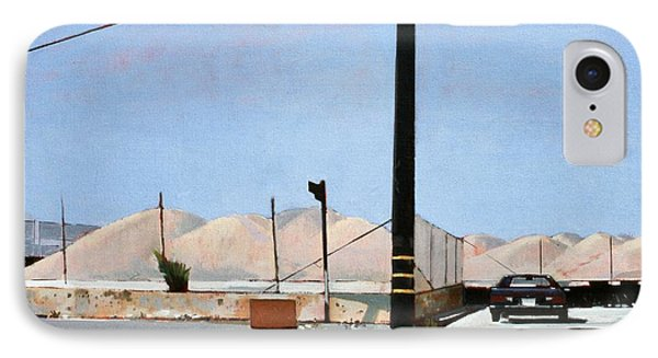 Gravel Piles Downtown La IPhone Case by Peter Wilson