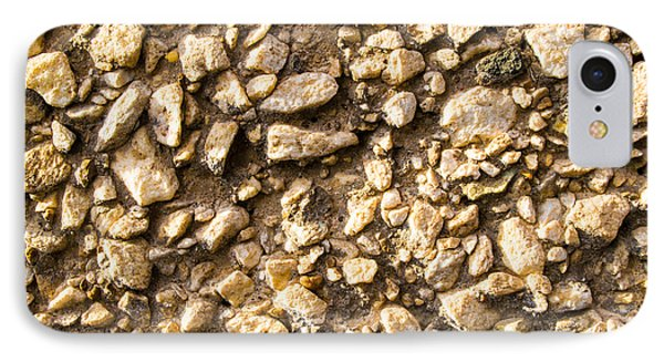 Gravel Stones On A Wall IPhone Case by John Williams