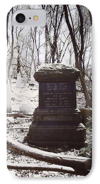 Gravestones Of Dutchess County IPhone Case by Natasha Marco