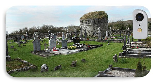 IPhone Case featuring the photograph Graveyard Antigua Iglesia De Killinaboy Ireland by Marie Leslie
