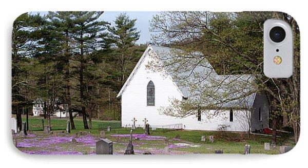 Graveyard Phlox Country Church Phone Case by John Stephens
