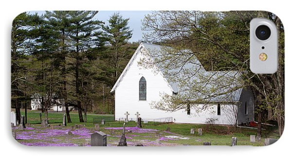 Graveyard Phlox Country Church IPhone Case