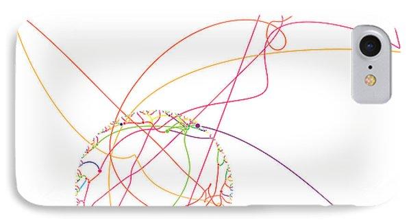 Gravitational Simulation Of 153 Digits Of Pi. Phone Case by Martin Krzywinski