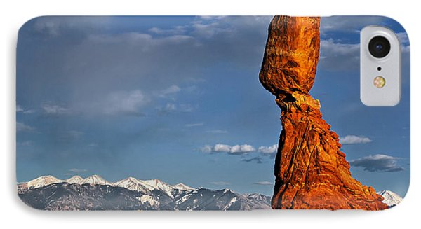 Gravity Defying Balanced Rock, Arches National Park, Utah IPhone Case by Sam Antonio Photography