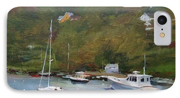 Gray Afternoon At Rockport Harbor Phone Case by Peter Salwen