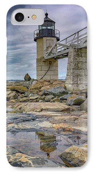 IPhone Case featuring the photograph Gray Day At Marshall Point by Rick Berk