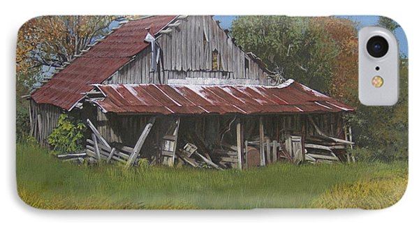 Gray Farm Building Phone Case by Peter Muzyka