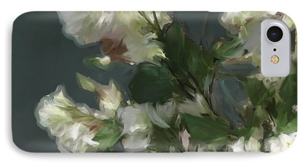 Gray Floral 09 IPhone Case
