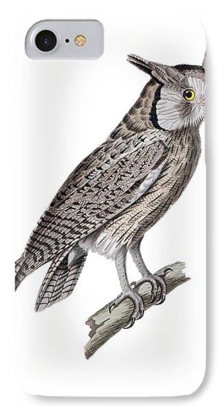 Gray Horned Owl IPhone Case by Douglas Barnett